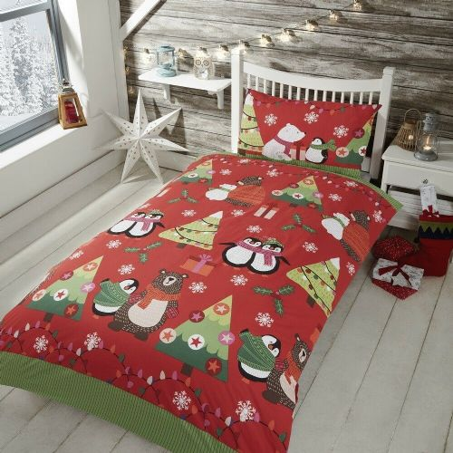 Together at Christmas, easy care duvet set